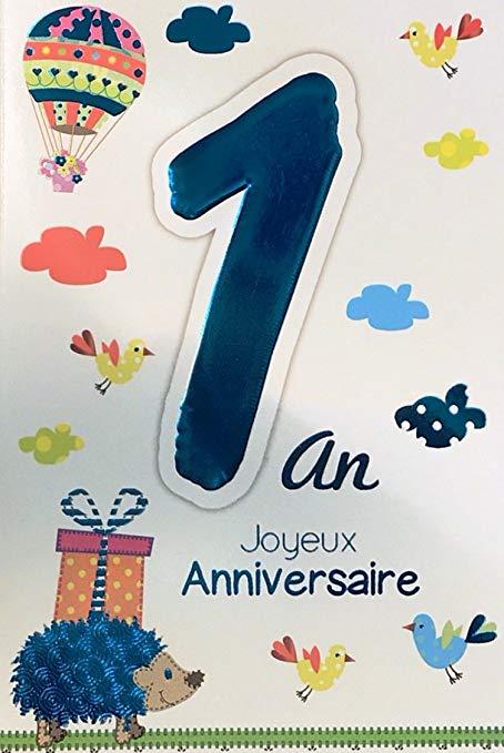 Carte anniversaire 1 an garçon