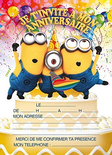 Carte anniversaire enfant minion