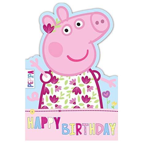 Carte anniversaire peppa