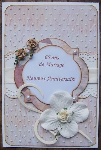 Texte anniversaire de mariage 65 ans