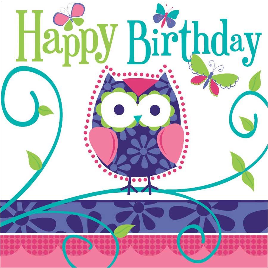 Carte anniversaire hibou