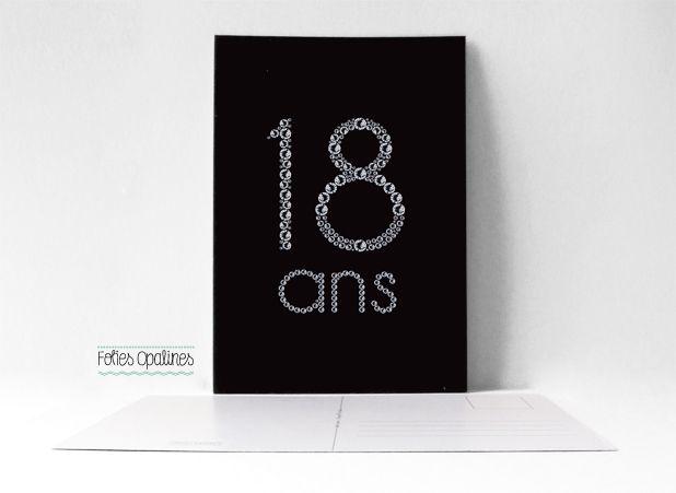 Carte anniversaire scrapbooking 18 ans