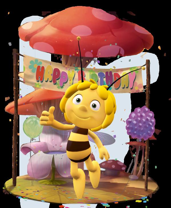 Carte anniversaire maya l'abeille