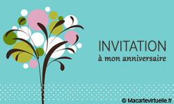 Carte D Invitation Anniversaire Virtuelle Personnalisable Elevagequalitetouraine