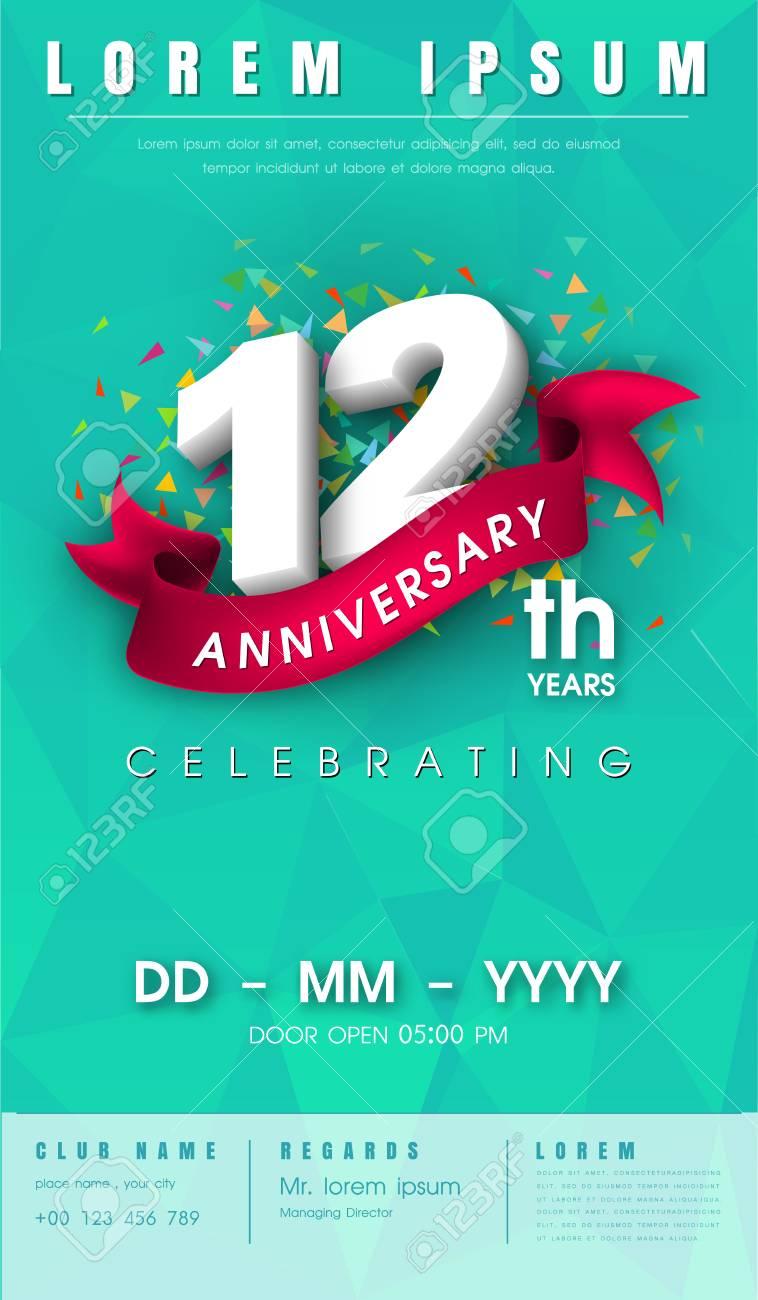 Modele carte invitation anniversaire 12 ans