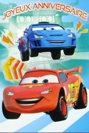 Carte anniversaire à imprimer cars