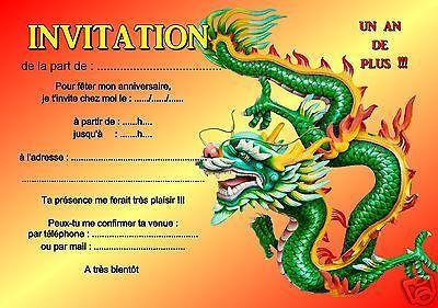 Carte d invitation anniversaire dragon ball z