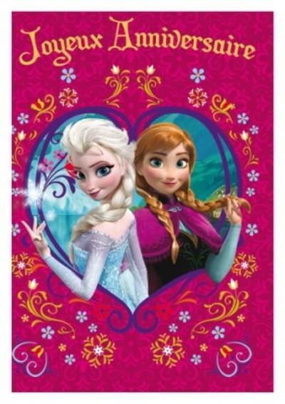 Carte Joyeux Anniversaire La Reine Des Neiges A Imprimer Gratuit Elevagequalitetouraine