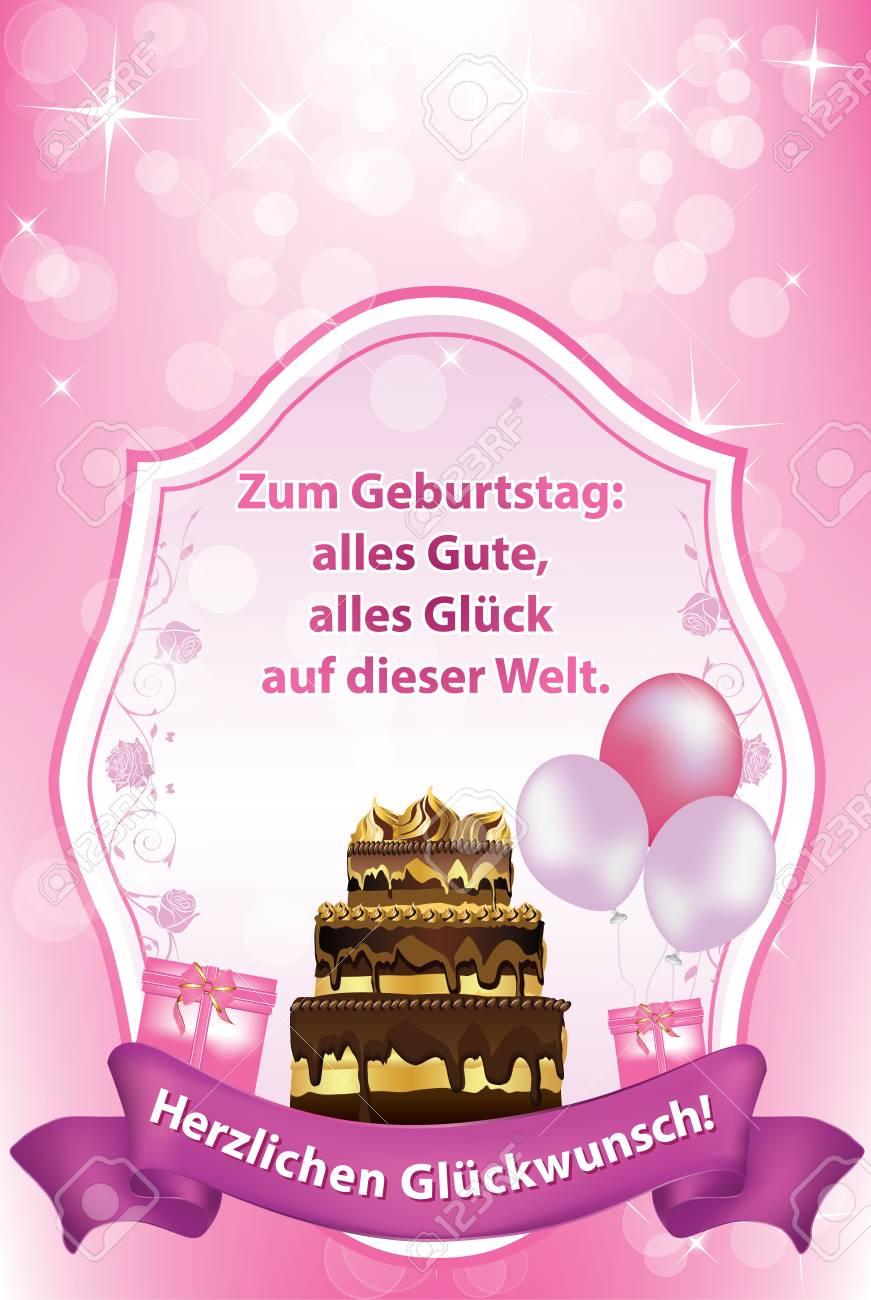 Texte voeux anniversaire en allemand