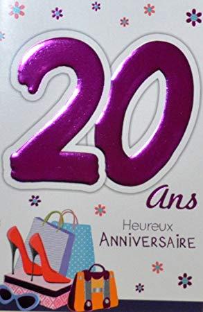 Carte anniversaire femme 20 ans