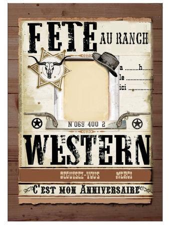 Texte invitation anniversaire western