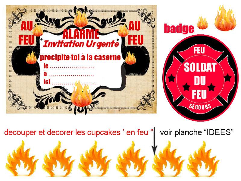 Carte anniversaire pompier gratuite