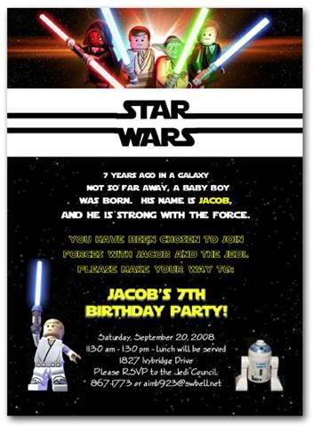 Texte invitation anniversaire star wars