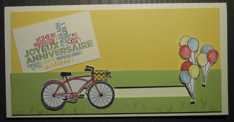 Carte anniversaire vélo