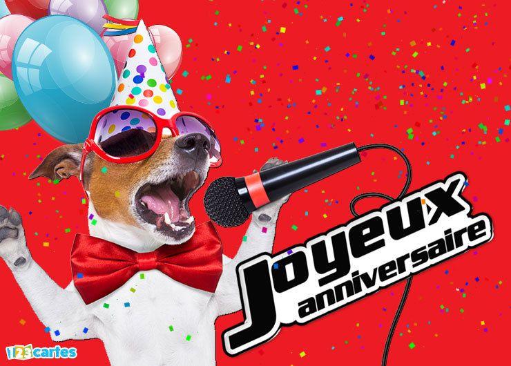 Carte anniversaire à envoyer sur facebook