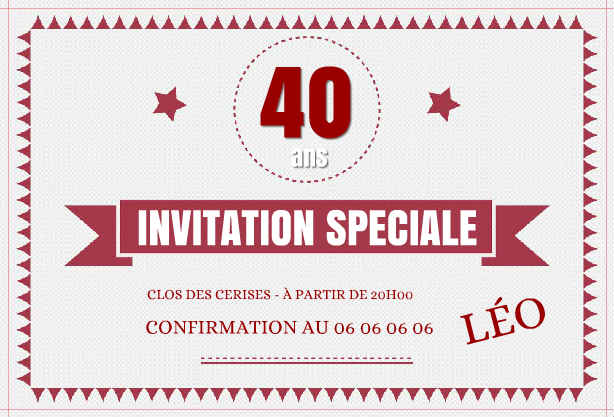 Carte Virtuelle Invitation Anniversaire Adulte Gratuite