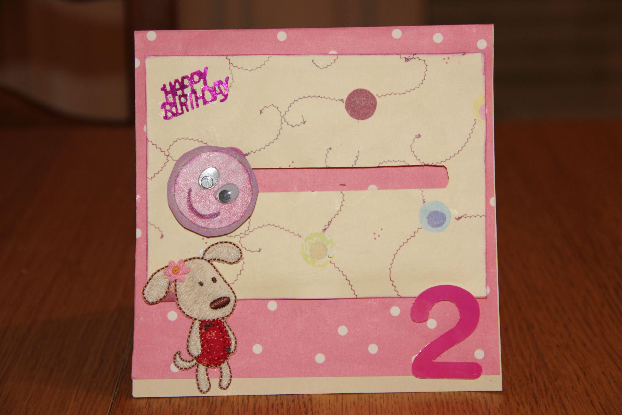 Carte anniversaire scrapbooking 1 an