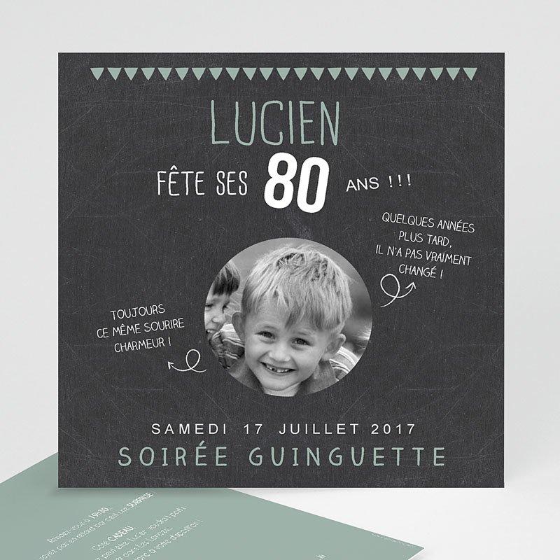 Texte pour carte d'invitation anniversaire 80 ans