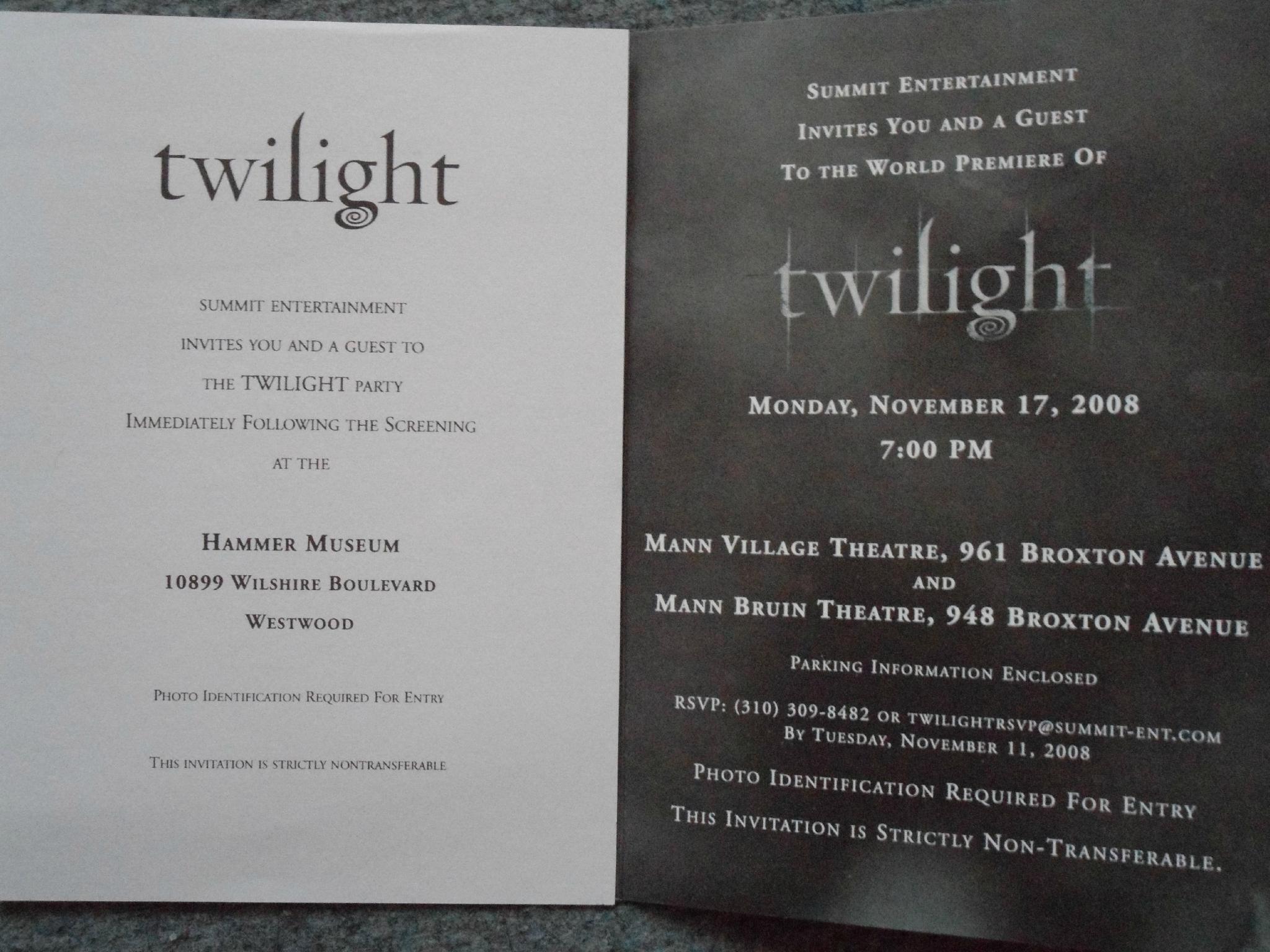 Carte anniversaire twilight