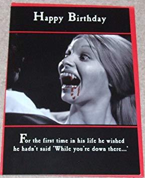 Carte anniversaire horreur