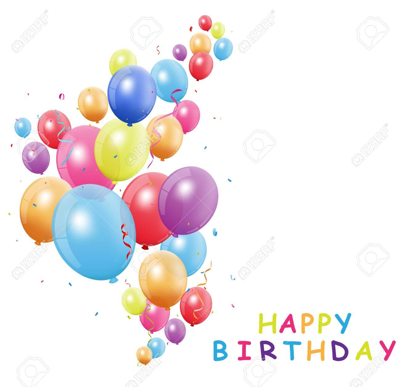 Carte anniversaire avec ballons