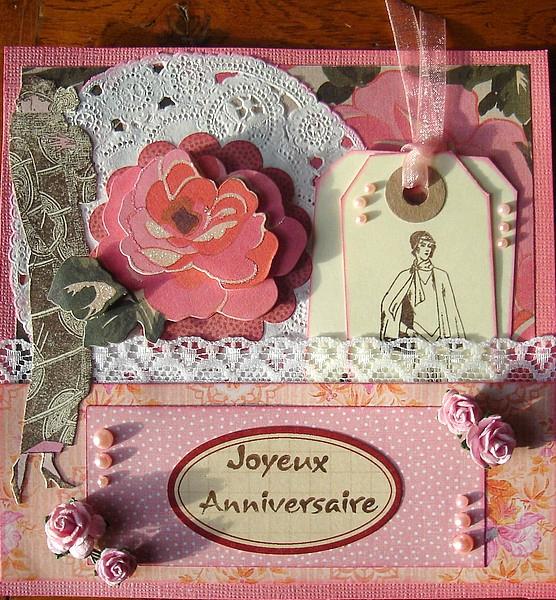 Carte anniversaire feminin