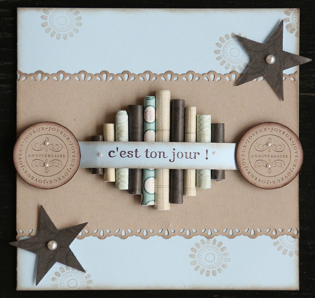 Carte anniversaire stampin up homme