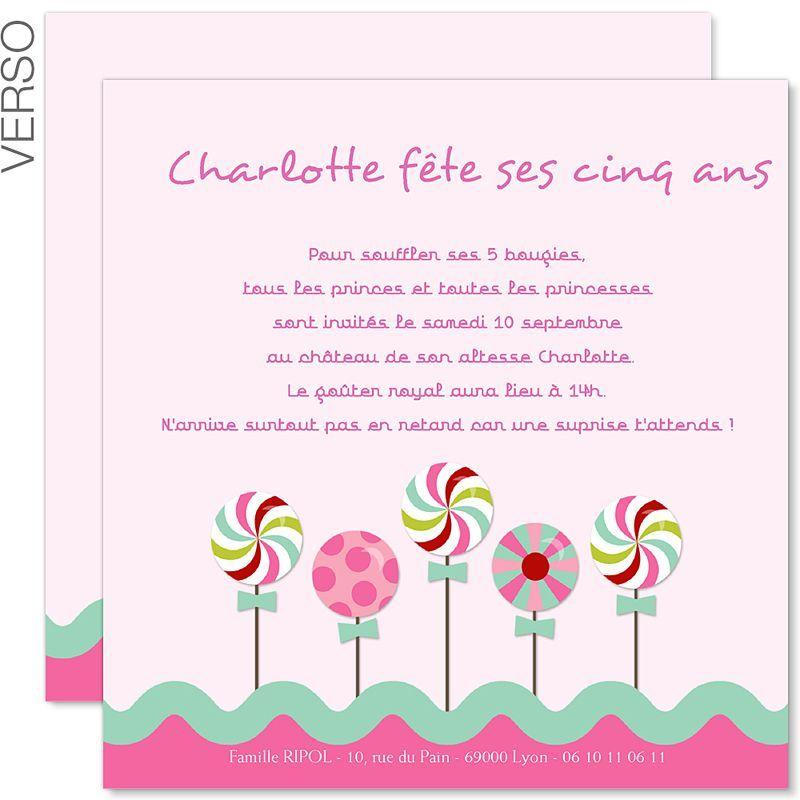 Carte d'invitation anniversaire fille a imprimer gratuitement