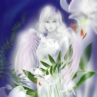 Carte anniversaire avec des anges