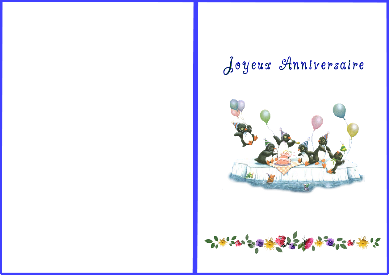 Carte anniversaire gratuite à imprimer