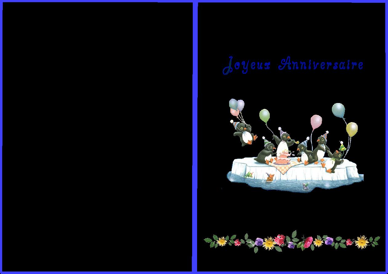 Imprimer gratuitement carte joyeux anniversaire