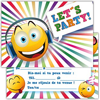 Smiley carte anniversaire
