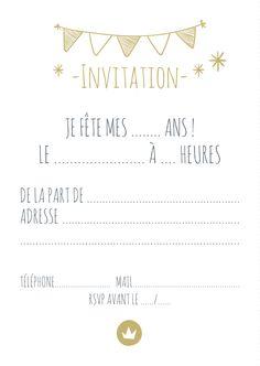 Carte d'invitation pour anniversaire 10 ans