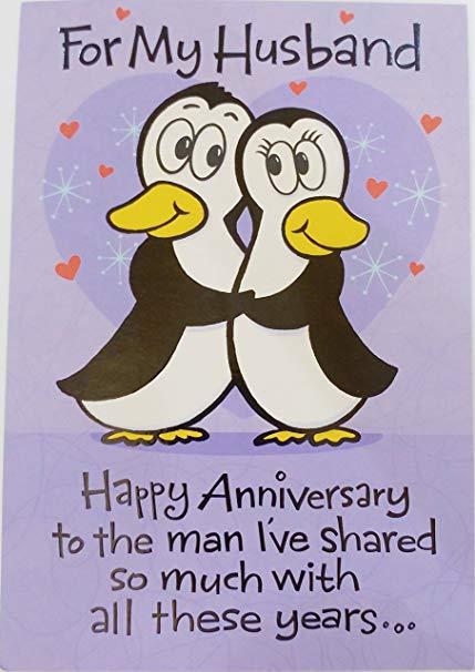 Carte anniversaire pour mon mari