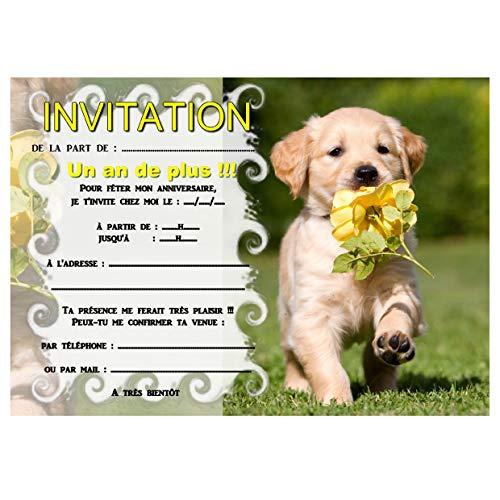 Carte d'invitation anniversaire avec chien