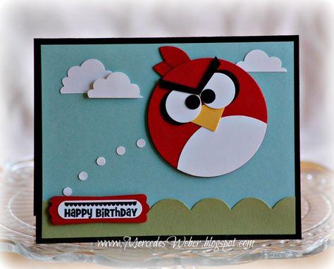 Carte anniversaire garcon angry birds