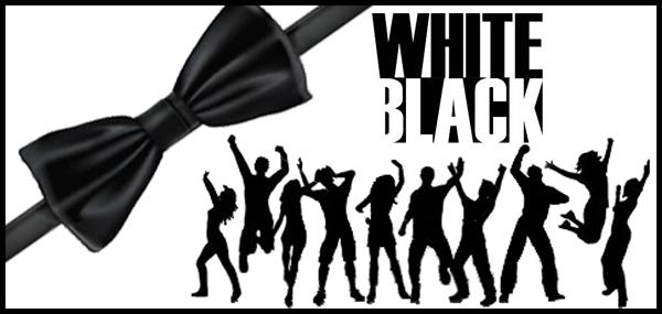 Carte anniversaire black and white