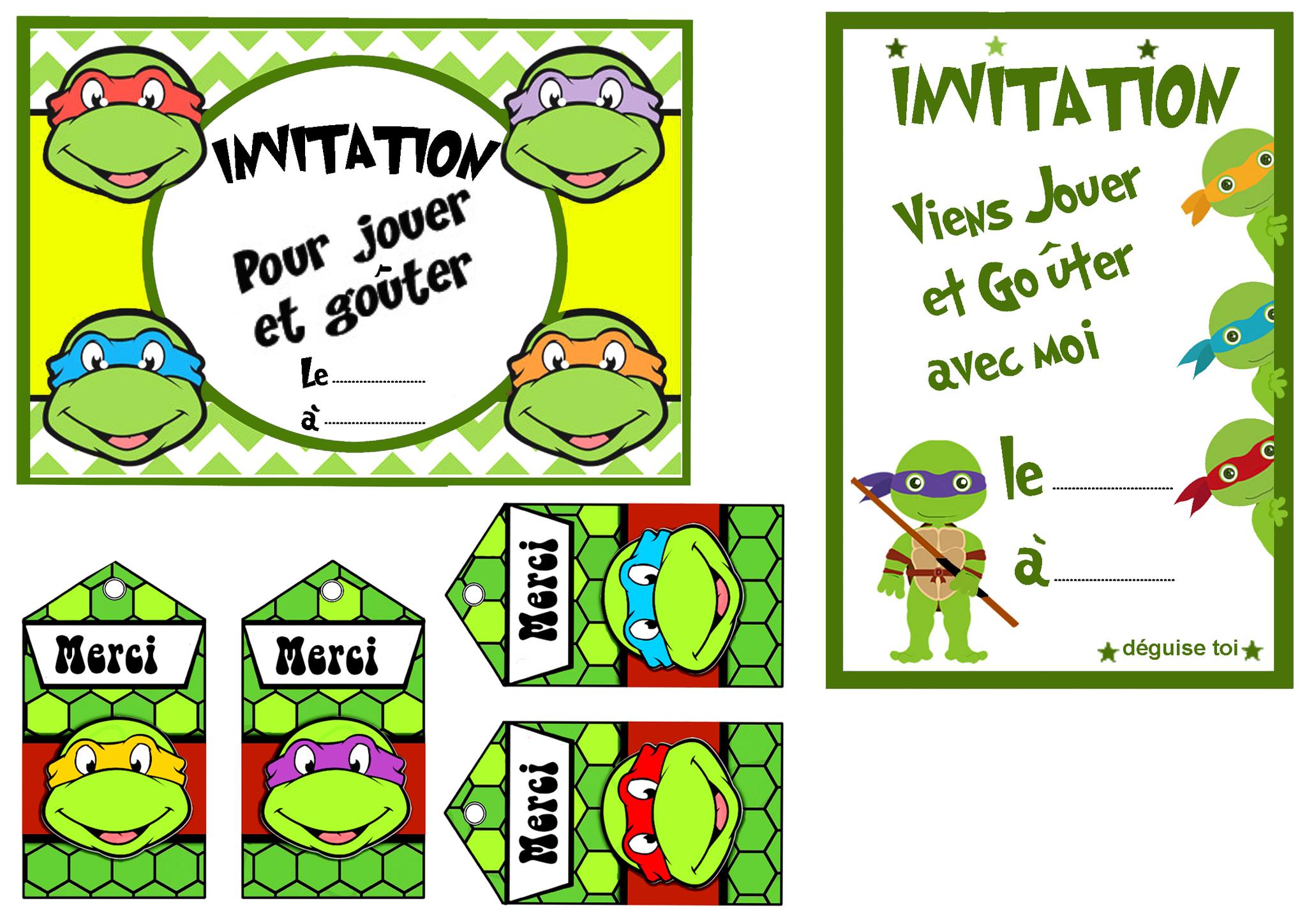 Carte joyeux anniversaire tortue