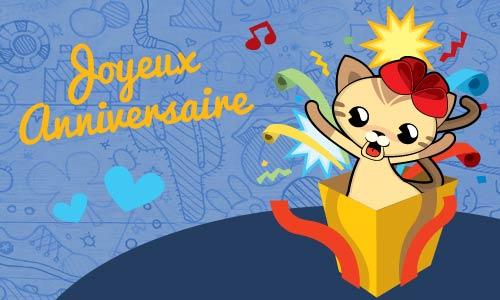 Carte anniversaire animée gratuite pour enfants