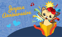 Carte virtuelle animée anniversaire bébé 1 an