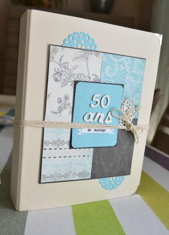 Carte anniversaire scrapbooking 50 ans