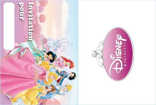 Carte invitation anniversaire princesse disney gratuite