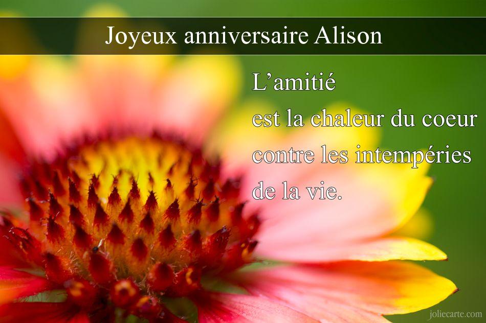 Carte anniversaire alison