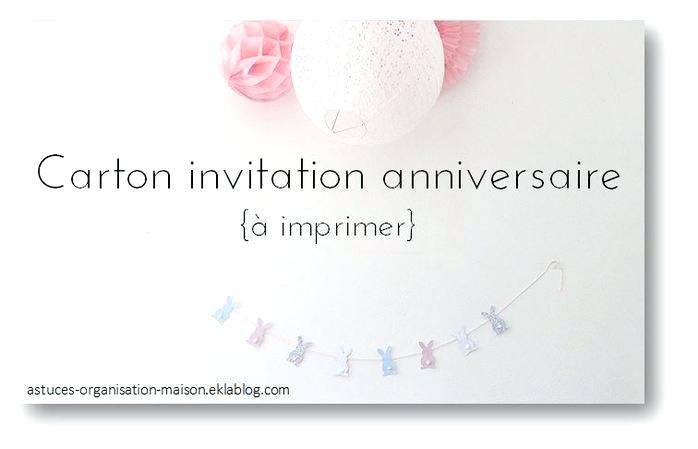 Carte invitation anniversaire ado original