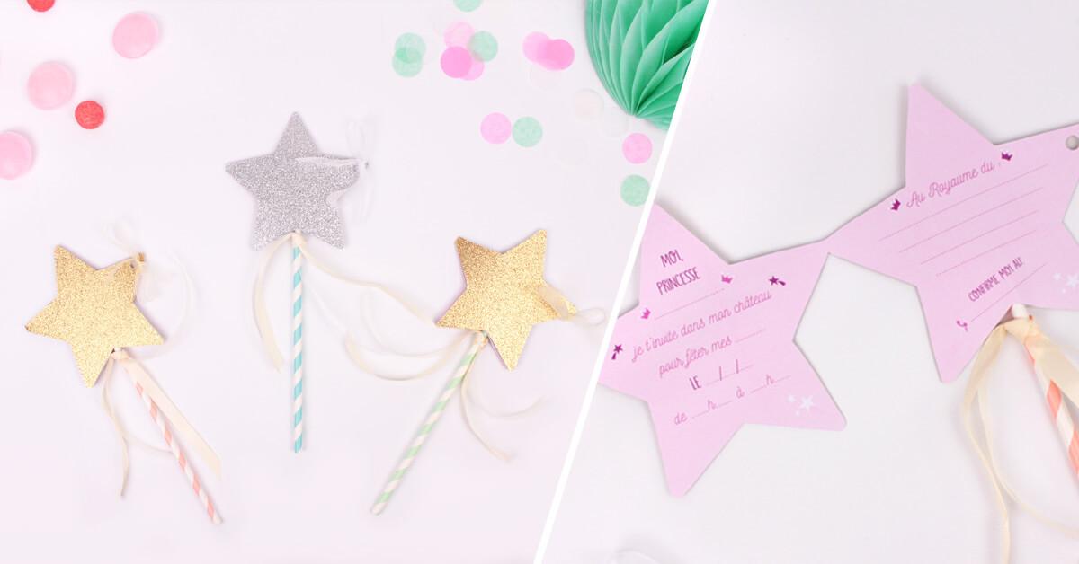Carte invitation anniversaire étoiles
