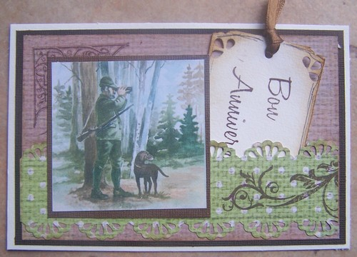 Carte anniversaire homme chasse