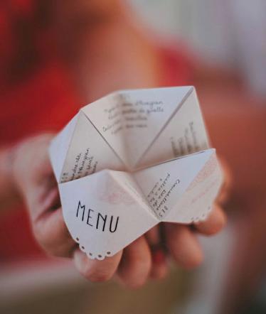 Presentation carte menu anniversaire