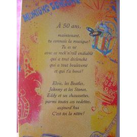 Carte anniversaire 50 femme