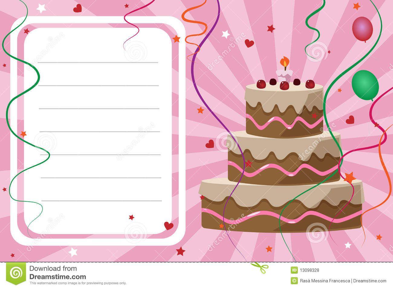 Carte invitation anniversaire fille originale