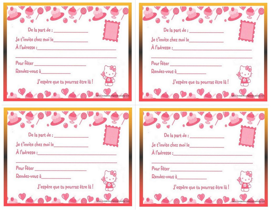 créer sa carte d invitation gratuitement Créer carte d'invitation anniversaire gratuite à imprimer